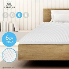 NEW Queen Bed Size 6 CM Thick Egg Crate Foam Mattress Topper Underlay Protector