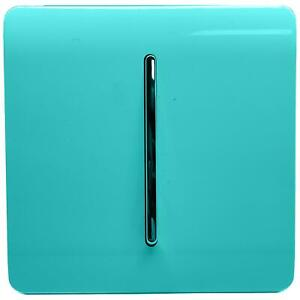 Trendi Artistic Modern Glossy  Home Automation Switch Bright Teal