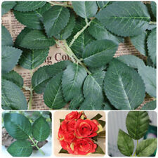 10 Springs 30 Rose Leaves Artificial Silk Green Leaf Wedding Craft Buttonhole
