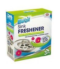 Duzzit 3 Sachets Of Sink Freshener Removes Odour Stainless Steel Ceramic Sinks