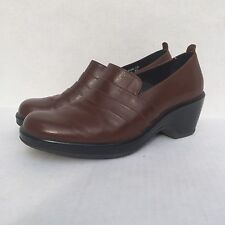 DANSKO Shoes Dark Brown Leather Clogs Loafers Slip-On Comfort Sz 40 9.5 10