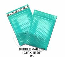 New listing (5) Large Teal Colored Decorative Bubble Mailers 10.5 X 15 Size #5