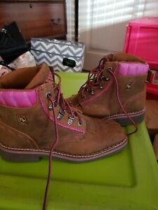 Dan post boots square toe Sz 8M
