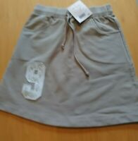 BNWT Lily Gaufrette Beige sweat A/line skirt with soft draw string waist age 9yr