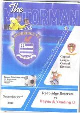 Redbridge Reserves v Hayes & Yeading Utd 2009/10 PC