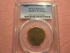 1806 Draped Bust Half Cent Small 6 No Stems PCGS MS 62 (rare lamination error)