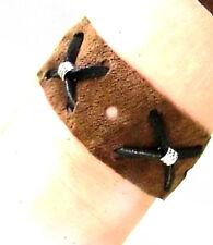 Armband Indianer-Look Armschmuck Leder braun schwarz Damen Herren 19 cm Schmuck