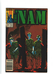 The 'Nam #5 FN 6.0 Newsstand Marvel Comics 1987 Michael Golden, Vietnam