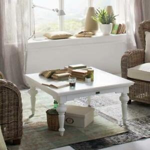 Provence Square Coffee Table - White