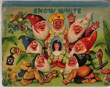 Vintage 1961 SNOW WHITE POP-UP BOOK Bancroft & Co Illustrations Vojitech Kubasta