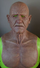 made to order realistic silicone old man mask