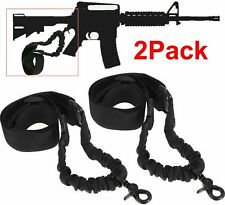 2PCS Single 1 One Point Sling Black Bungee Adjustable Tactical Black Hunting 20