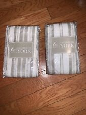 (2) C&F Enterprises Euro pillow Sham Liana Sandstone Elisabeth York K6