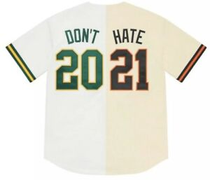 Supreme Don't Hate Baseball Jersey Oakland A's San Francisco Giants BAY AREA!!!