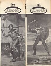 Aurora Original Issue Roman Gladiator and Spartacus Instruction Sheets (2)