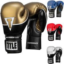 Title Boxing infundido Espuma interrogar a gancho y bucle de Entrenamiento Guantes