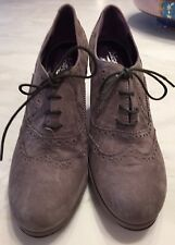 Designer, Shoes,Made In Italy, Bisanti, Grey Suede, Size 9, Brand New, Lace Up