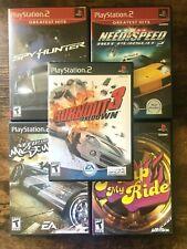 Racing/Car Games (Playstation 2) PS2   Complete w/ Artwork   Burnout, NFS, Spy