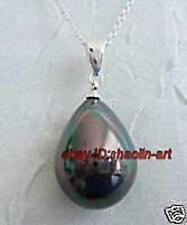 brillance, 10x16mm nacre perle goutter, pendentif ,avec la chaîne gratuite