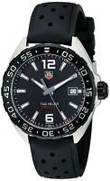 Tag Heuer Men's WAZ1110.FT8023 'Formula One' Black Rubber Watch