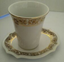 Vintage Ceramic Cup and Matching Tray Hand PaintedFloral Bathroom Set Japan @@
