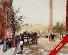 NORTHUMBERLAND AVE LONDON OLD ENGLAND ENGLISH BRITISH ART CANVAS PAINTING PRINT
