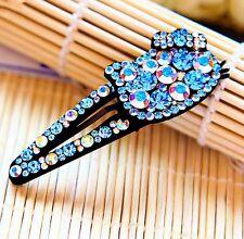 Hair Clip Bobby Pin using Swarovski Crystal Hairpin Hello Kitty Cat Blue AB