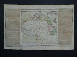1766 BRION / Desnos Atlas map  North Africa  Afrique Barbary Egypt Guinea Sahara