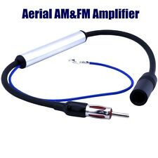 Car Aerial Antenna Radio FM AM inline Signal Amp Amplifier Booster DIN to DIN