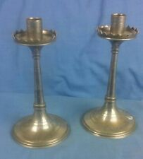 Pair Of Metal Candlesticks Candle Holders (S36)