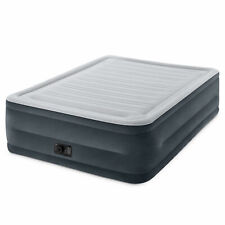 Plush High Rise Dura-Beam Air Bed Mattress w/ Built-In Pump, Queen Intex Comfort