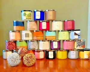 BATH AND BODY WORKS 3 WICK CANDLES,CHOOSE YOUR SCENT-NEW- YOUR CHOICE