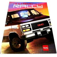 GMC 1992 TRUCKS **RALLY VAN** Vintage SALES BROCHURE / CATALOG Original 14 PAGES