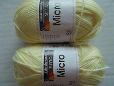 Schachenmayr Smc Micro microfiber yarn, Lemon, lot of 2 (159 yds each)