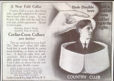 """ANTIQUE 1907 AD {E23}~CORLISS, COON & CO. """"COUNTRY CLUB"""" COLLARS. TROY, NY."""