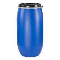 gebraucht kunststoffdeckelfass 60l regenfass tonne blau beh lter ebay. Black Bedroom Furniture Sets. Home Design Ideas