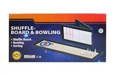 3 en 1 Table Top Shuffle Board Curling Bowling jeux KIDS - 6 ans et +