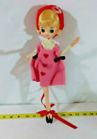 "Vintage Big Eye Mod Cloth Pose Doll Toy Japan 1960's 12""  ~ Rare ~ Ships FREE"