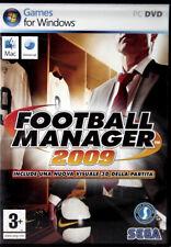 FOOTBALL MANAGER 2009 PC e APPLE MAC Sega Italiano Usato