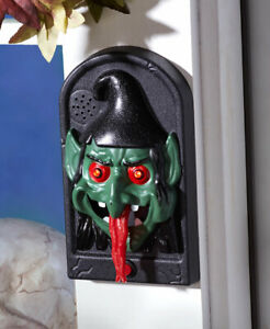 Lighted Spooky Animated Wicked Witch Halloween Doorbell