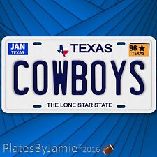 Dallas Cowboys NFL Football Team TX 1996 Prop Replica Aluminum License Plate