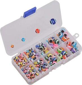 380pcs Fishing Eye Beads Assortment Fish Rigging Bead Kit Multicolor Lure Beads