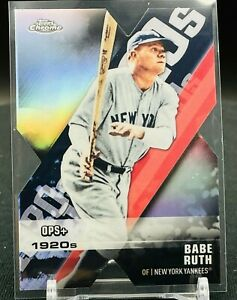 2020 Topps Chrome Babe Ruth Die Cut New York Yankees
