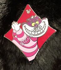 Disney Pin 2013 Hidden Mickey Alice in Wonderland Card Cheshire Cat Diamond Pin