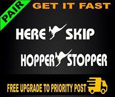 HERE SKIP + HOPPER STOPPER BULL BAR 4x4 ute STICKERS DECALS
