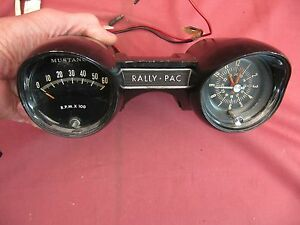 Original 1965 Mustang V8 Accessory Rally-Pac Professionally Serviced