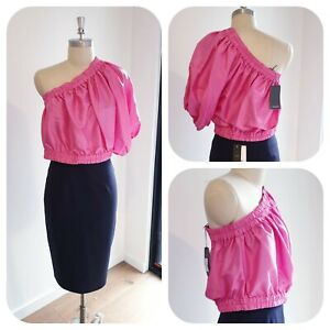 BNWT COUNTRY ROAD Silk Blouse Size 14 L |  Pop Pink Top, Party Fun | RRP$199