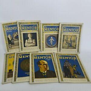 THE MENTOR Magazine Lot of 8 Vintage 1924-1929 Historical Short Stories