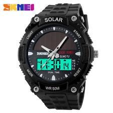 Skmei мода солнечная энергия двойное время спортивные часы водонепроницаемые наручные часы A8Z9