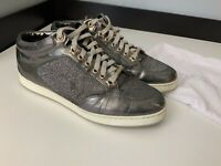 Jimmy Choo Grey Low Top Sneakers Size 36 Uk 3 Gc Shoes